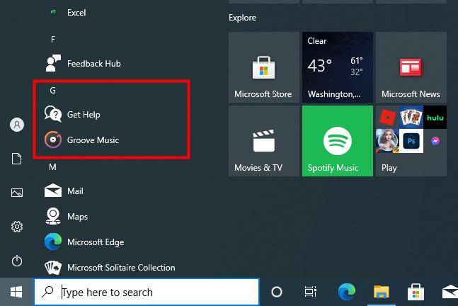 start menu hide apps 3